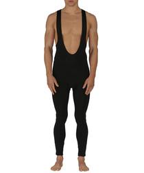 Black suspender leggings