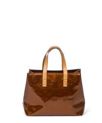 Reade bronze vernis monogram grab bag