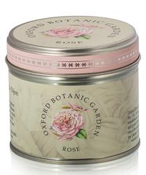 Rose tin candle