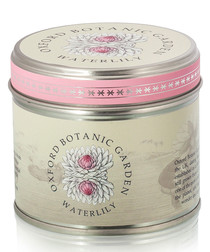 Waterlily tin candle
