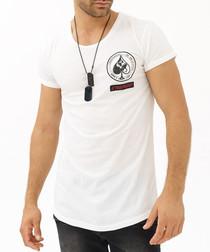 White cotton card suits T-shirt