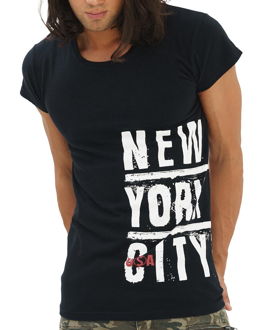 Black cotton NYC slogan T-shirt Sale - true prodigy