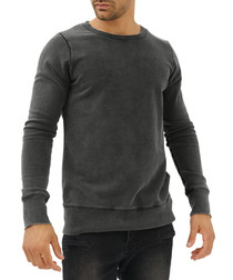 Dark grey cotton jumper