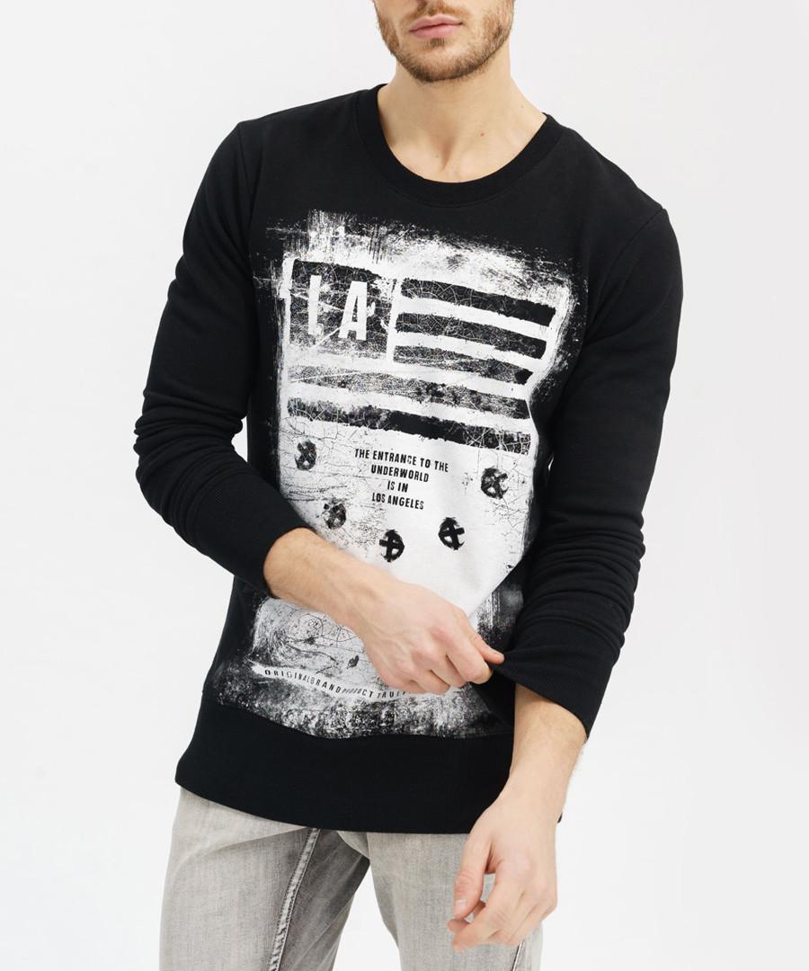 Black pure cotton LA print jumper Sale - true prodigy