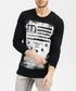 Black pure cotton LA print jumper Sale - true prodigy Sale
