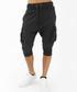 Black cotton below-the-knee joggers Sale - true prodigy Sale
