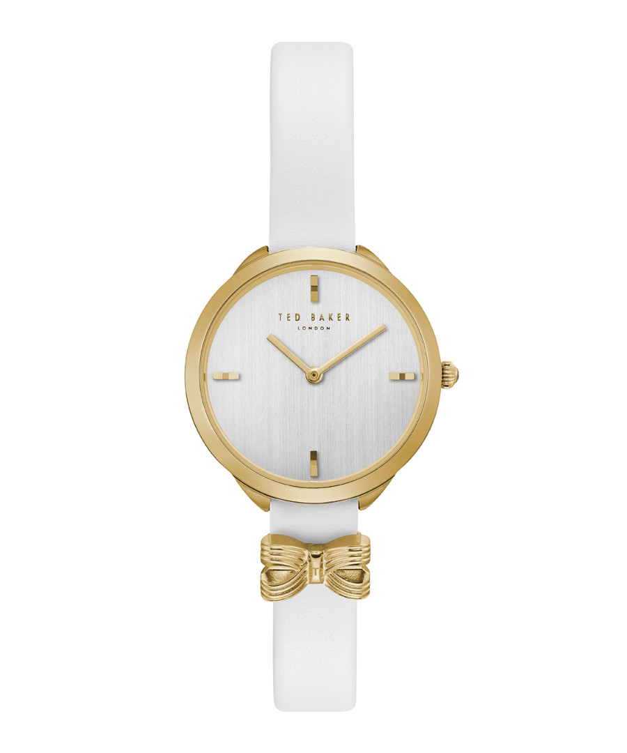 Elana white leather & gold-tone watch Sale - ted baker