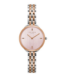 Elana rose gold-tone steel watch