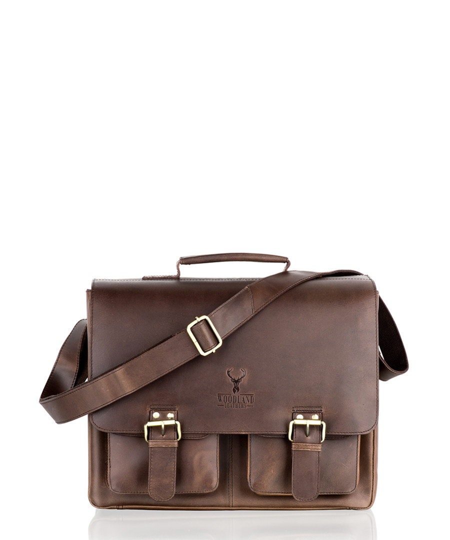 Brown leather satchel Sale - woodland leather