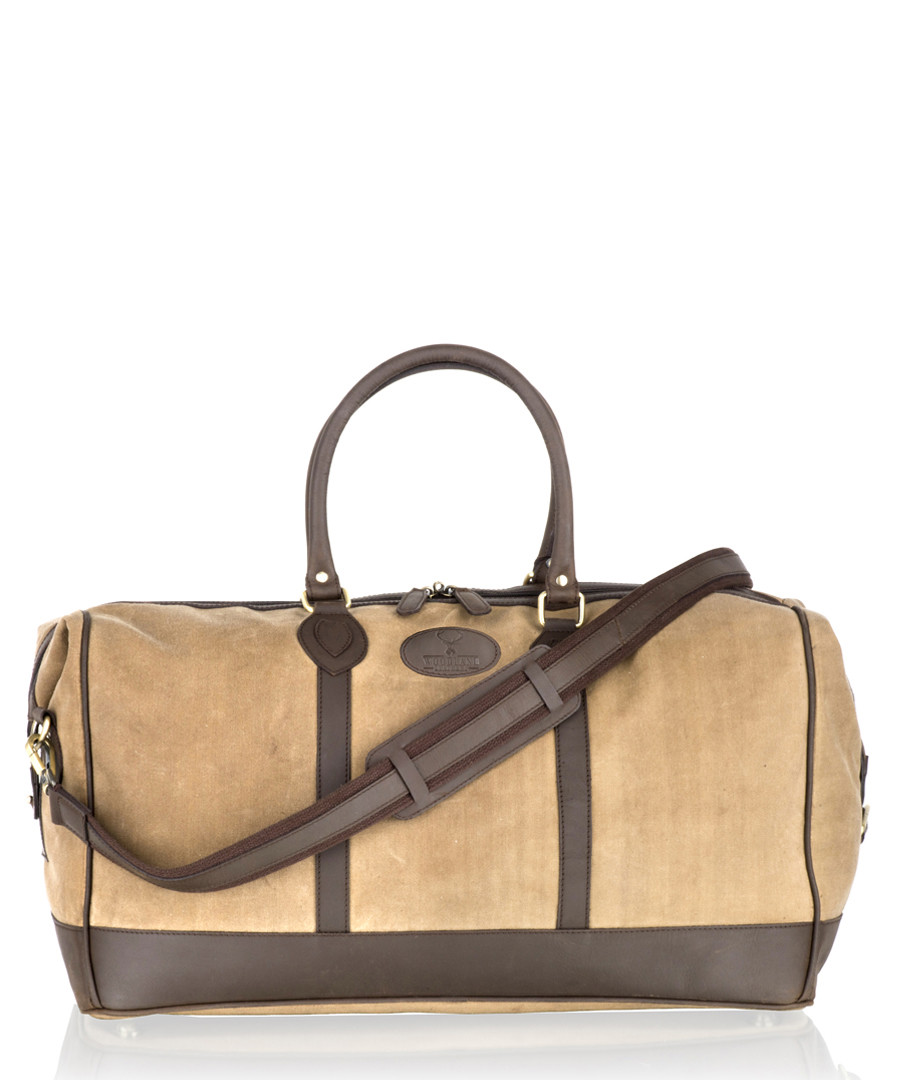 Brown leather weekend bag Sale - woodland leathers
