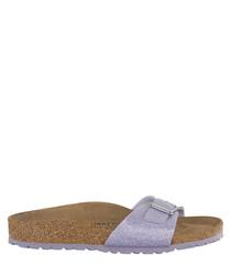 Lavender sparkle single strap sandals
