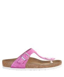 Rose pink T-bar narrow sandals