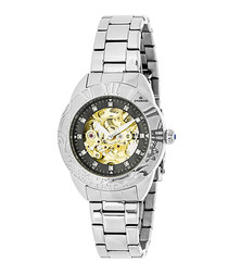 Godiva silver-tone steel watch