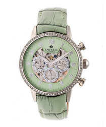 Beatrice mint leather watch