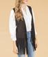 Grey suedette fringed waistcoat Sale - jayley Sale