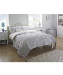 Flora pink cotton bedspread 240 x 260cm