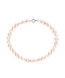 0.4cm multi-colour pearl bracelet