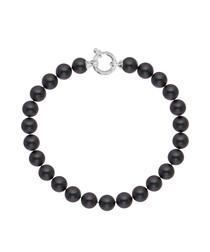 0.7cm black Tahiti pearl bracelet