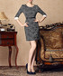 Black print roll sleeve mini dress Sale - Gyalwana Sale
