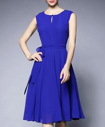 Blue knee-length floaty dress