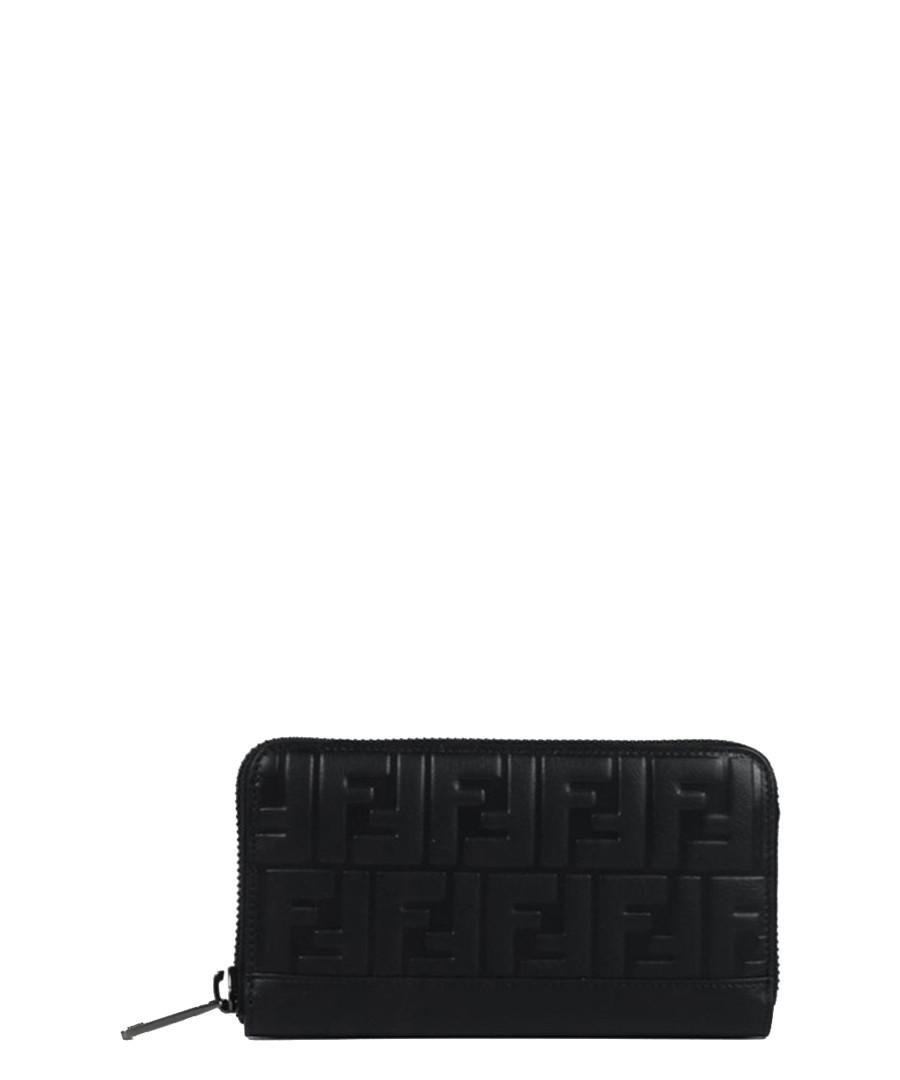 Black leather logo zip-around purse Sale - fendi