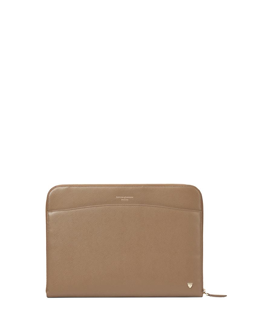 Carrera Saffiano leather laptop case  Sale - Aspinal
