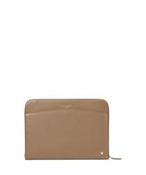 Carrera Saffiano leather laptop case