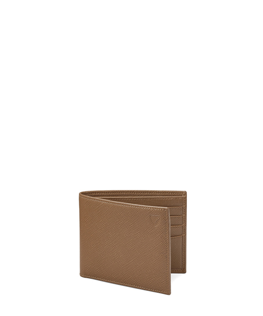 Billfold camel Saffiano leather wallet Sale - Aspinal