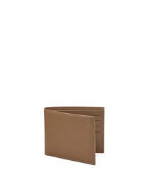 Billfold camel Saffiano leather wallet