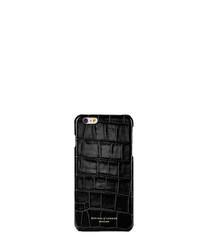 Black leather iPhone 6 case