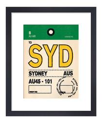 Sydney framed art print 36 x 28cm
