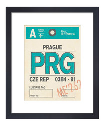 Prague framed art print 36 x 28cm