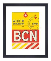 Barcelona framed art print 36 x 28cm