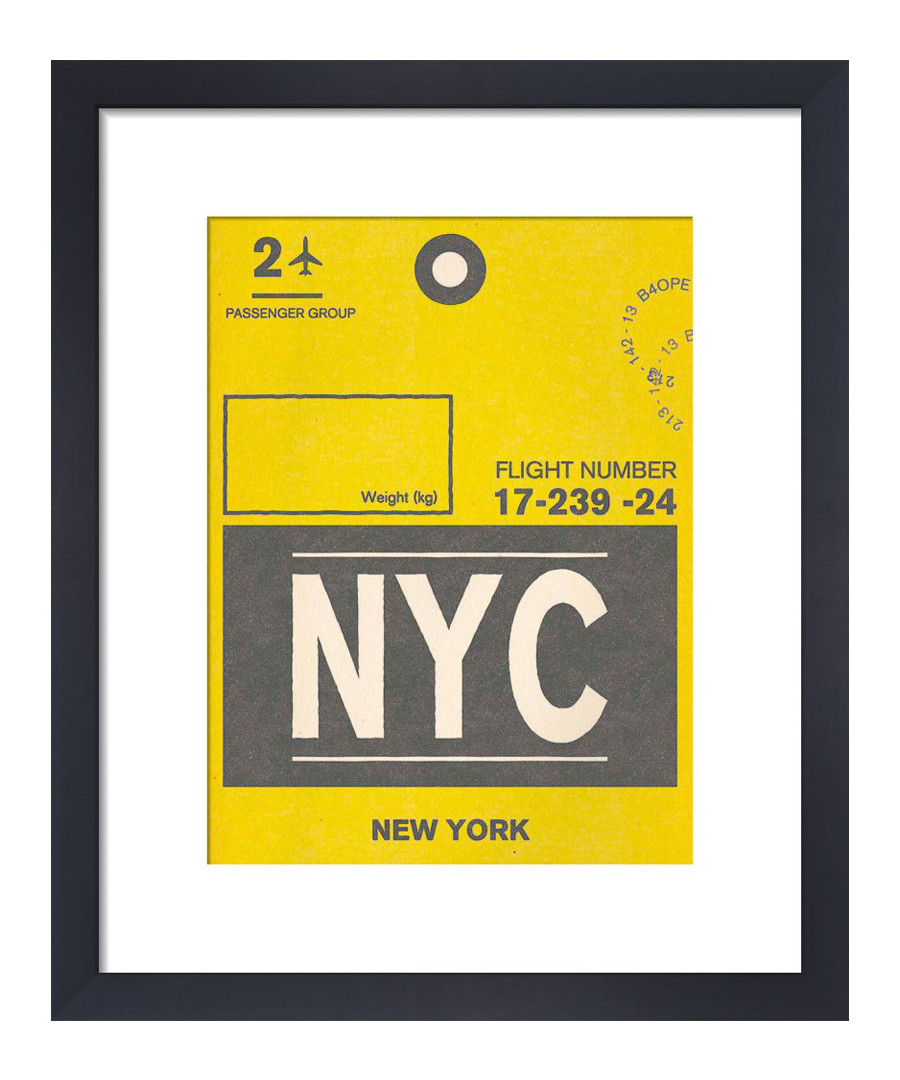 New York framed art print 36 x 28cm Sale - The Art Guys
