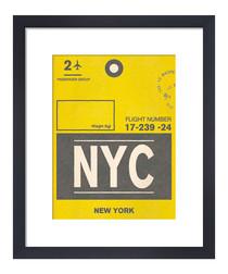 New York framed art print 36 x 28cm