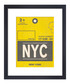 New York framed art print 36 x 28cm Sale - The Art Guys Sale