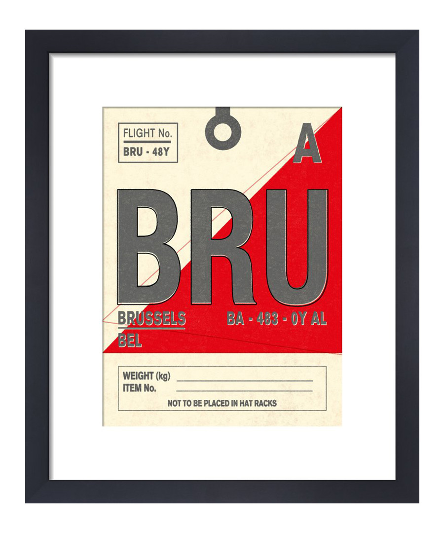 Brussels framed art print 36 x 28cm Sale - The Art Guys