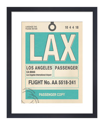 Los Angeles framed art print 36 x 28cm