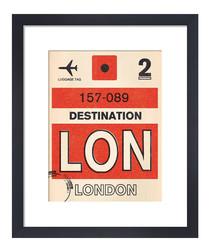 London framed art print 50 x 40cm
