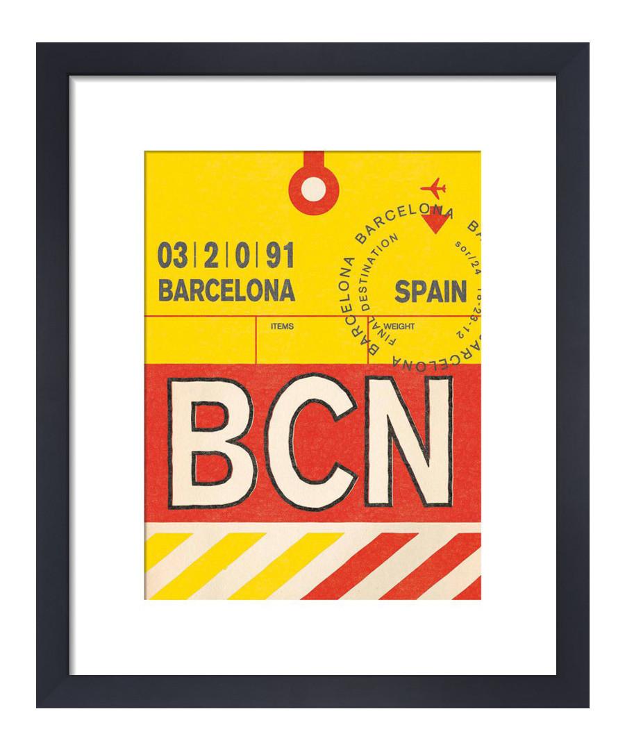 Barcelona framed art print 50 x 40cm Sale - The Art Guys