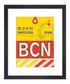 Barcelona framed art print 50 x 40cm Sale - The Art Guys Sale