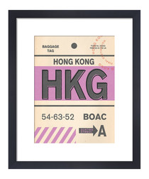 Hong Kong framed art print 50 x 40cm
