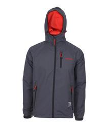 Charcoal zip-up coat