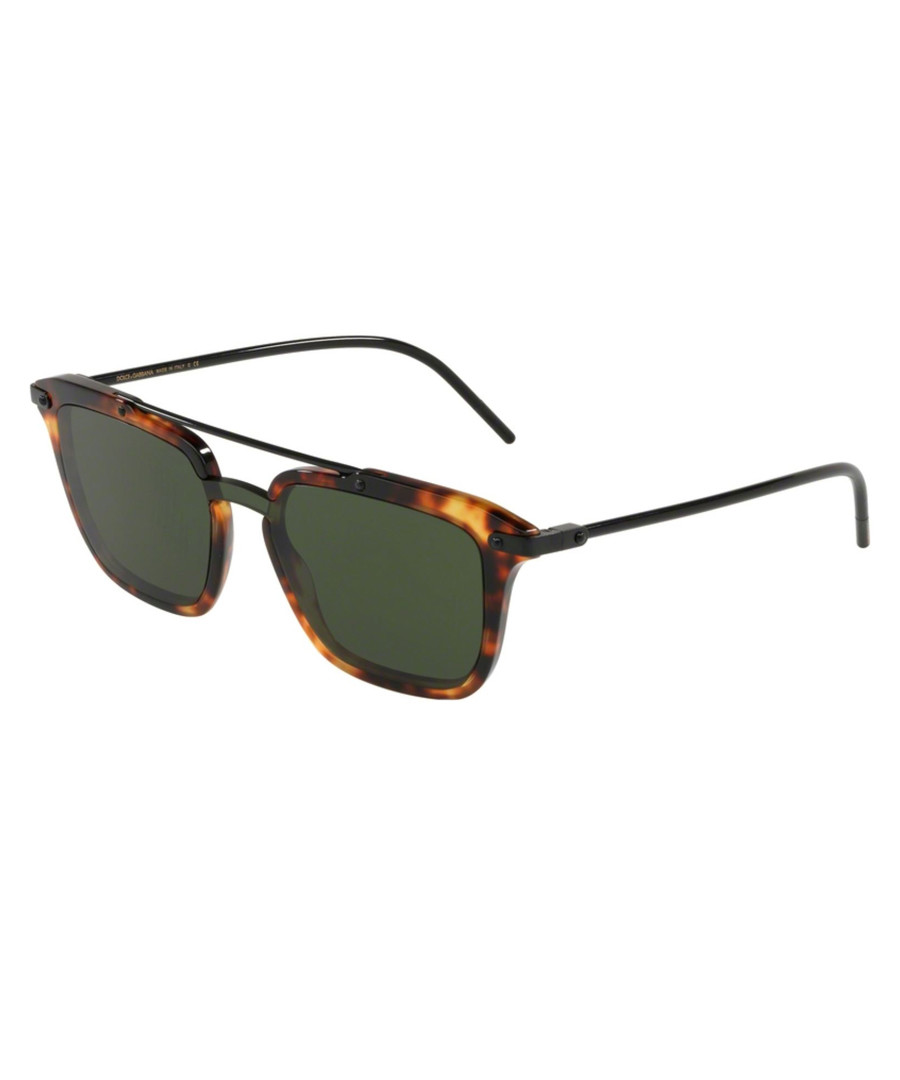 Havana & green top bar sunglasses Sale - D&G