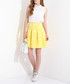 Yellow print zip pleat mini skirt Sale - JDP FASHION Sale