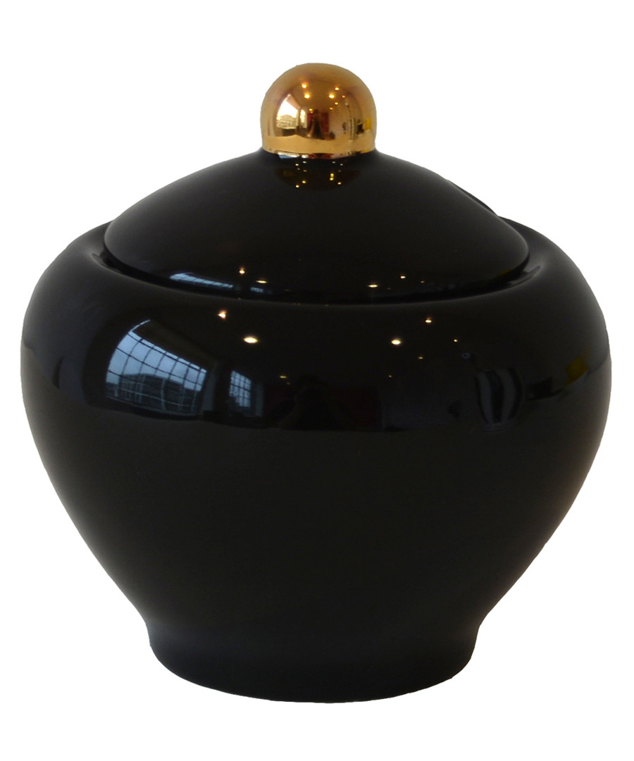 Smitten black china sugar bowl Sale - bombay duck
