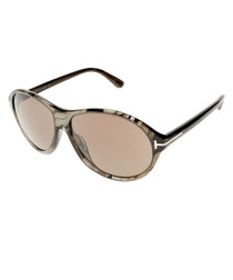 Women's Tyler grey round sunglasses