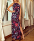 Multi-coloured floral print maxi dress Sale - numoco Sale
