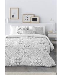 Bianca grey cotton double duvet cover