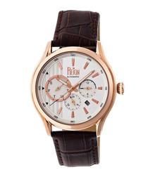 Gustaf dark brown leather watch